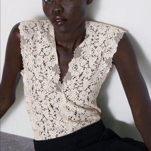 NWT Zara lace bodysuit size small